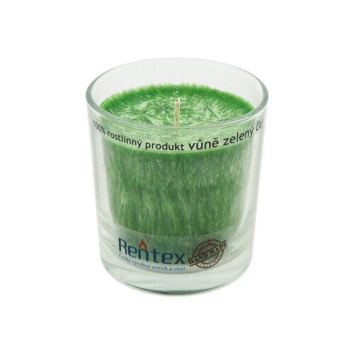Palmová vonná sviečka v skle zelený čaj