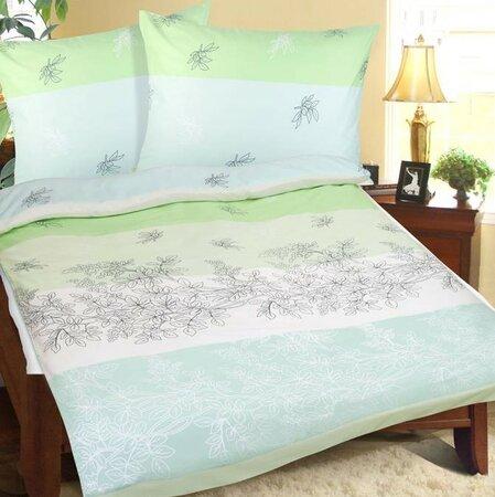 Bellatex Bavlnené obliečky Jar zelená, 140 x 200 cm, 70 x 90 cm