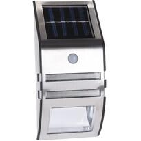 Koopman Zewnętrza ścienna lampa solarna z czujnikiem, srebrny, 17 cm