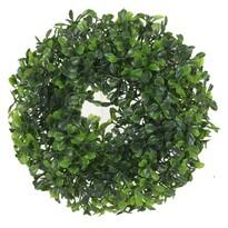Coroniță artificială Frunze verde, diametru 23 cm