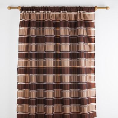 Pruhované voály, hnědá, 140 x 180 cm