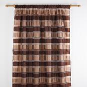 Pruhované voály, hnědá, 140 x 245 cm