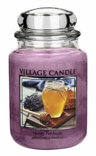 Village Candle Vonná svíčka ve skle, Med a pačuli - Honey Patchouli, 26oz, 645 g
