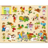 Puzzle mare Woody, cu mânere