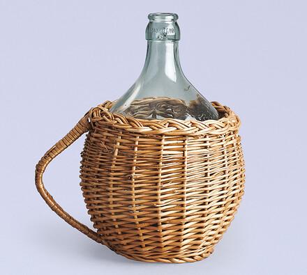 WICKER skleněná láhev  opletená 5l