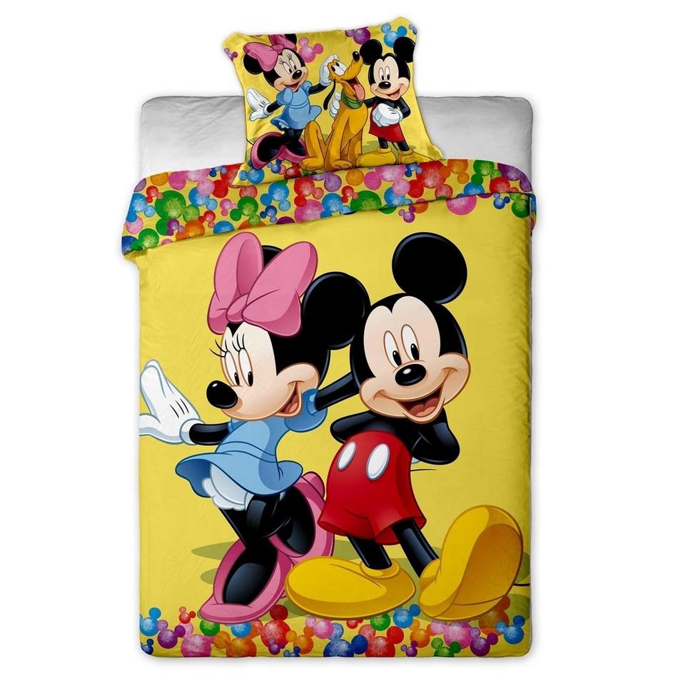Jerry Fabrics Detské obliečky Mickey and Minnie 2015 micro, 140 x 200 cm, 70 x 90 cm