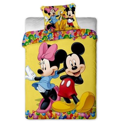 Dětské povlečení Mickey and Minnie 2015 micro, 140 x 200 cm, 70 x 90 cm