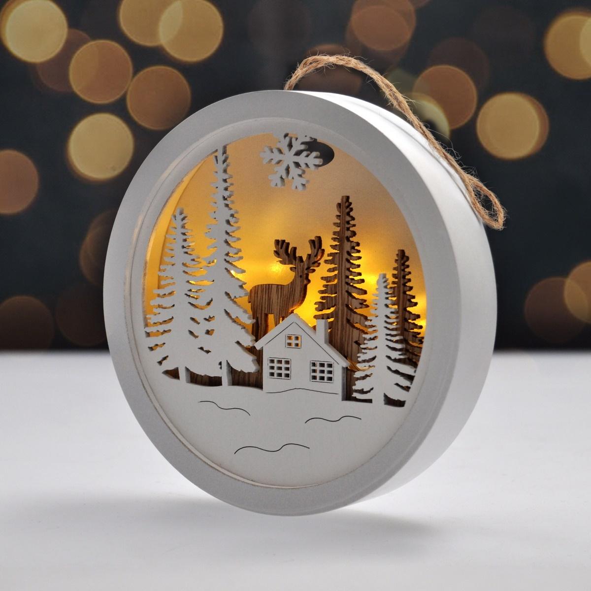 Solight Dekorativní LED obrázek Winter time