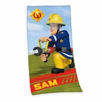 Osuška Požiarnik Sam, 75 x 150 cm