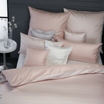 Lenjerie pat din damasc Stella Ateliers Ferrara, vișiniu, 140 x 200 cm, 70 x 90 cm