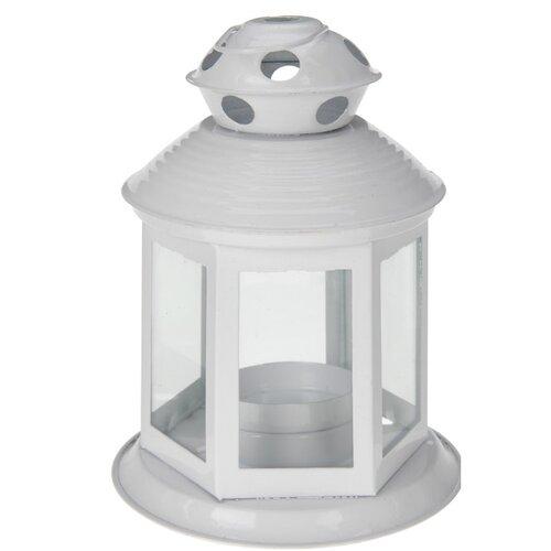 Koopman Lucerna na čajovou svíčku Colorido, bílá