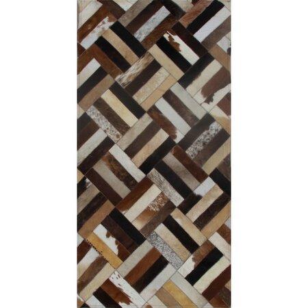 Koberec z pravé kůže Patchwork 2, 140 x 200 cm