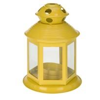 Lucerna na čajovou svíčku Linterne, žlutá