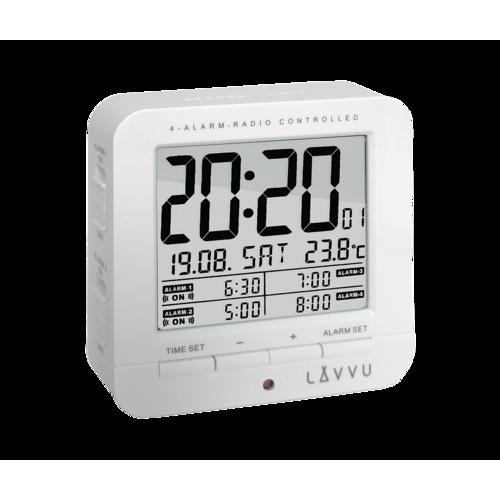 Digitálny budík Lavvu White Cube LAR0010, 9 cm