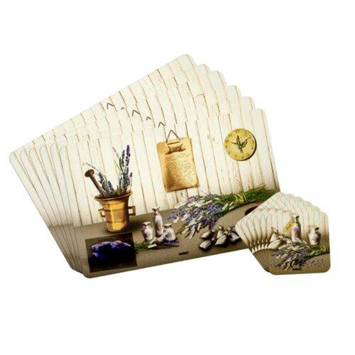Banquet Prostírání Lavender, 6 ks 43 x 28 cm, 6 ks 10 x 10 cm
