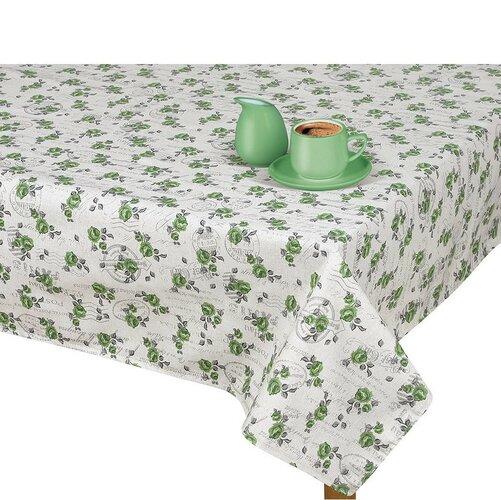 Faţă de masă Ivo Ramură verde cu ştampilă, 100 x 100 cm