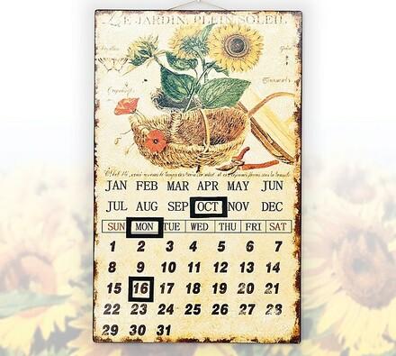 Univerzální kovový kalendář