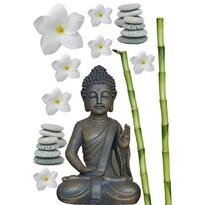 Kleine Wolke Samolepiaca dekorácia Budha, sivá
