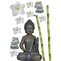 Kleine Wolke Samolepicí dekorace Buddha, šedá