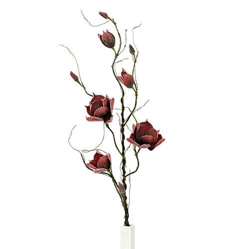 Umelá kvetina magnólia vínová, 125 cm, Autronic