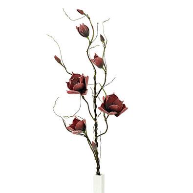 Umělá květina magnolie vínová, 125 cm