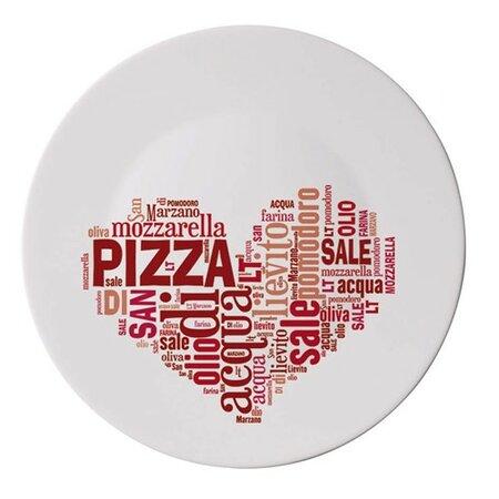 Tanier I love pizza 33 cm, červená,