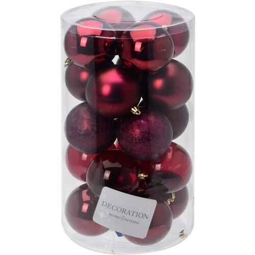Vianočné ozdobné gule Inverno, pr. 7 cm