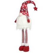Vánoční LED dekorace Standing gnome červená, 20 x 90 cm