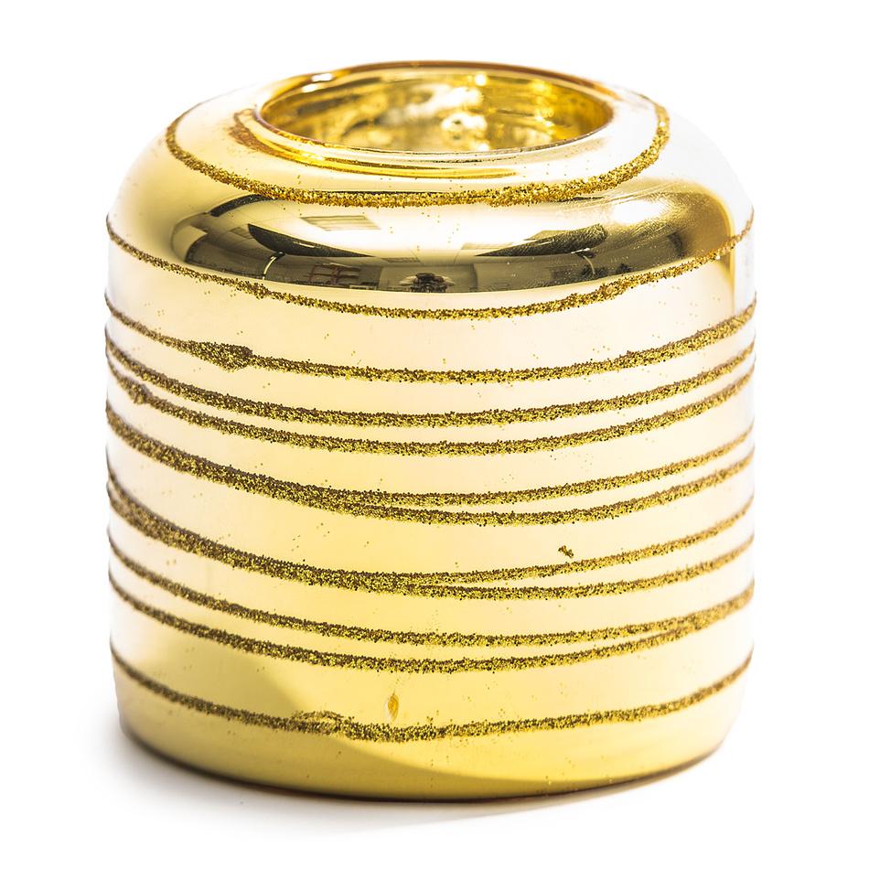 Svietnik valec zlatá, HTH