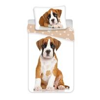 Dog brown pamut ágynemű, 140 x 200 cm, 70 x 90 cm