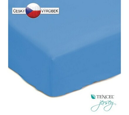 Nepropustné prostěradlo, modré, 180 x 200 cm