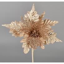 Umělá Poinsettie zlatá, 25 cm