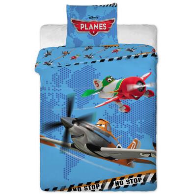 Dětské bavlněné povlečení Planes, 140 x 200 cm, 70 x 90 cm