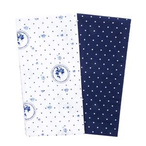 Trade Concept Kuchyňská utěrka Country puntík modrá, 50 x 70 cm, sada 2 ks