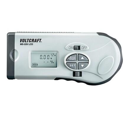 Zkoušečka akumulátorů i baterií, šedá, 13 cm