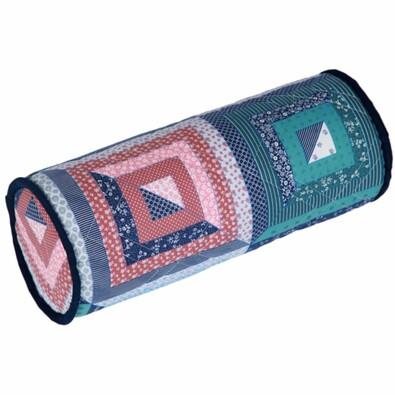 Bavlněný polštář válec patchwork, 40 cm
