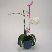 Plastia Orchidea pálca Levél lila, 60 cm
