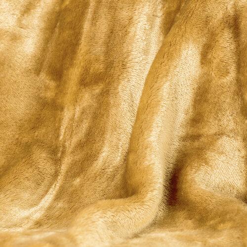 Deka XXL / Přehoz na postel medová, 200 x 220 cm