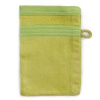 Bambusz mosdókendő  zöld, 14 x 22 cm