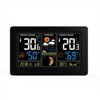 Solight TE81 Meteostanica s extra veľkým farebným LCD displejom, čierna