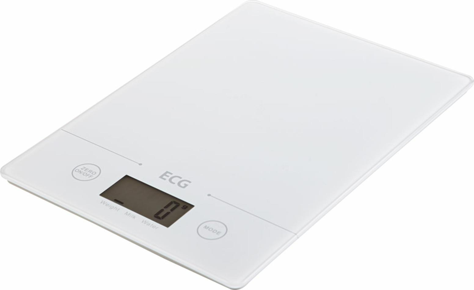 ECG KV 117 Slim Kuchynská váha, biela,