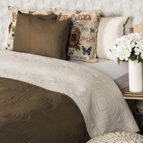 Cuvertură de pat 4Home Doubleface, maro închis/maro deschis, 220 x 240 cm, 2x 40 x 40 cm