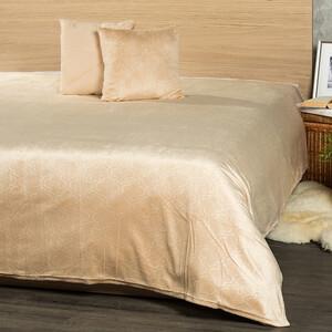 4Home Přehoz na postel Salazar béžová, 220 x 240 cm, 2x 40x40 cm