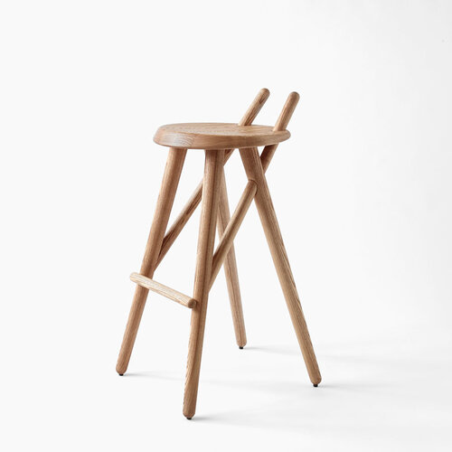 Lugi Barová stolička 02 78 cm, jaseň masív