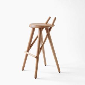 Barová židle 02, jasan masiv
