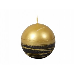 Vánoční svíčka Lumina Gold koule, zlatá