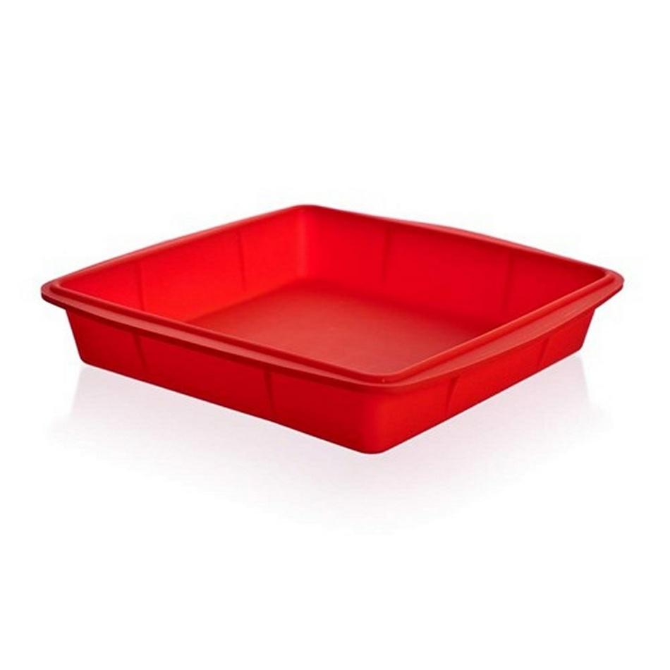 Banquet Culinaria Red silikónový pekáč 23 x 23 x 4 cm
