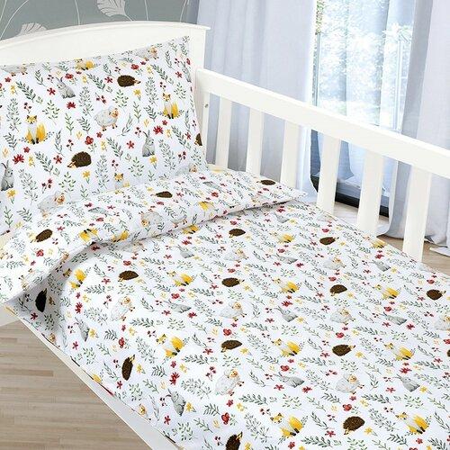 Bellatex Lenjerie de pat din bumbac pentru copii Agáta Animăluțe pe pajiște, 90 x 135 cm, 45 x 60 cm imagine