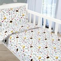 Bellatex Lenjerie de pat din bumbac pentru copii Agáta Animăluțe pe pajiște, 90 x 135 cm, 45 x 60 cm