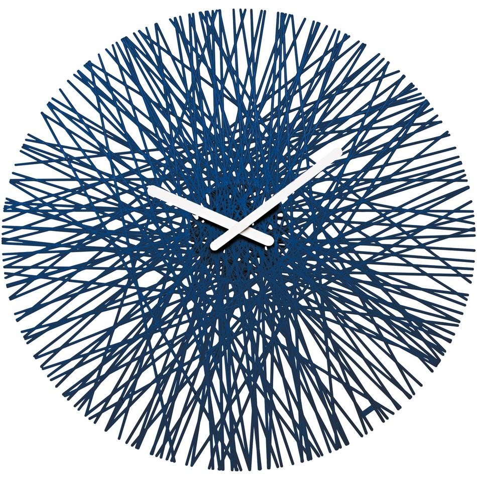 Koziol Nástěnné hodiny Silk modrá, pr. 45 cm